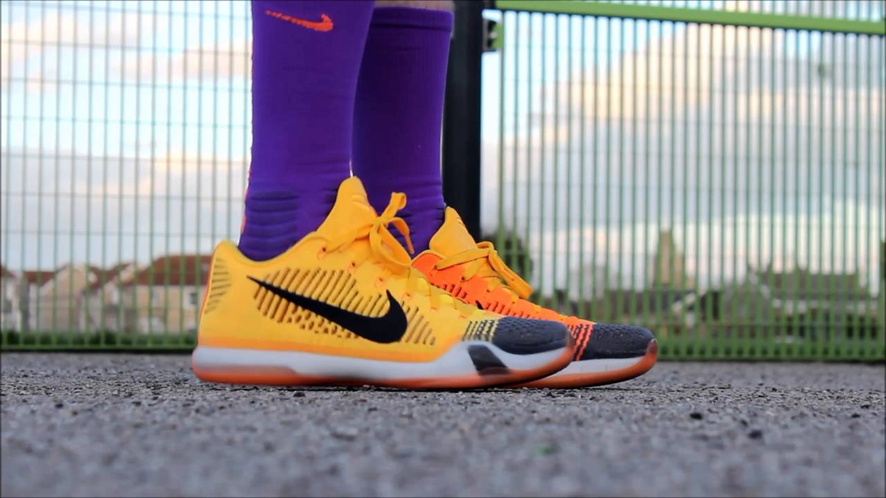 new styles 9a42a 46e48 Nike Kobe 10 X Elite Low Rivalry Chesters Cheatah ON FEET