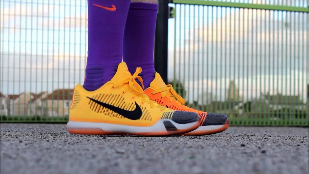 new styles 2c93f cfc83 Nike Kobe 10 X Elite Low Rivalry Chesters Cheatah ON FEET