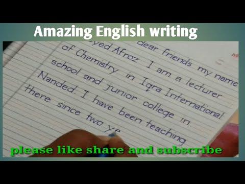 Neat And Clean English Writing   English Handwriting   English Book Writing