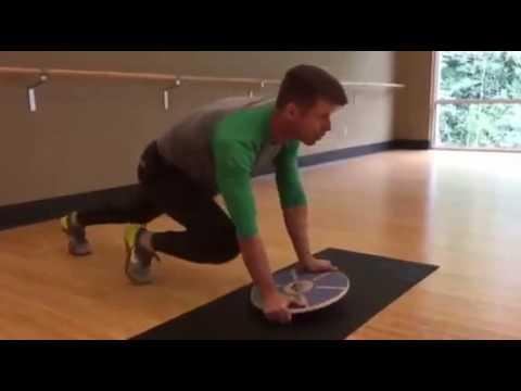 Balance Board Exercise #14: Mountain Climber / Push Up Combo