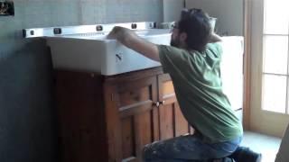 domsjo sink installation video farm sink