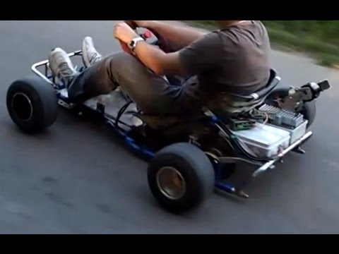5300w Rc Brushless Motor On A Go Kart 42km H Youtube