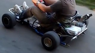 5300w RC Brushless  motor on a Go Kart (Must see !!!)