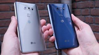 LG V30 - Farbvergleich - Moroccan Blue und Cloud Silver