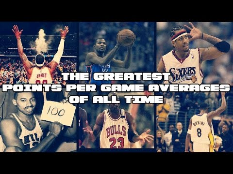 THE GRATEST POINTS PER GAME AVERAGES OF ALL TIME | NBA Scoring Machines | Players with 30+ppg
