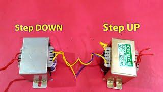 Transformer Step down vs Step up... LIVE✔