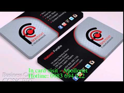 In card visit, dịch vụ in card visit đẹp giá rẻ tại Hà Nội, mẫu card visit đẹp