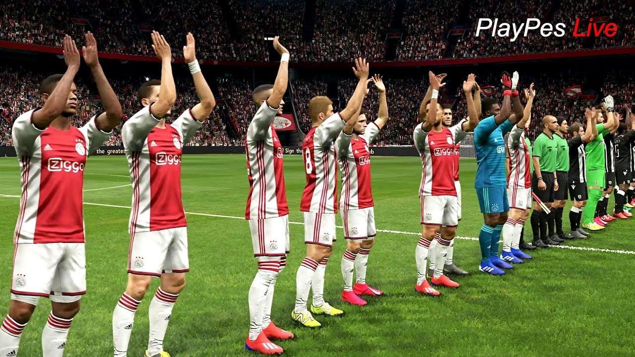 PES 2019 - AJAX vs PAOK - Full Match & Amazing Goals - Gameplay PC
