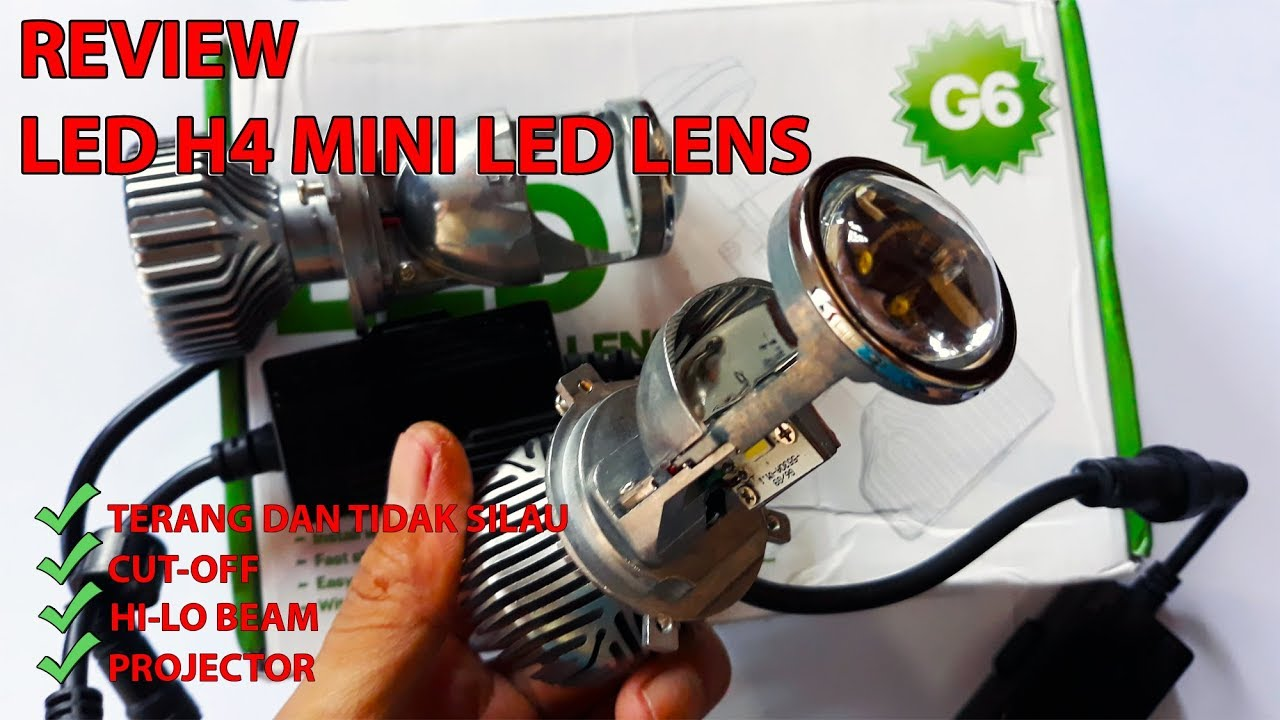 Review Led H4 Mini Lens Projie Car Headlight Terang Dan Tidak Silau Youtube