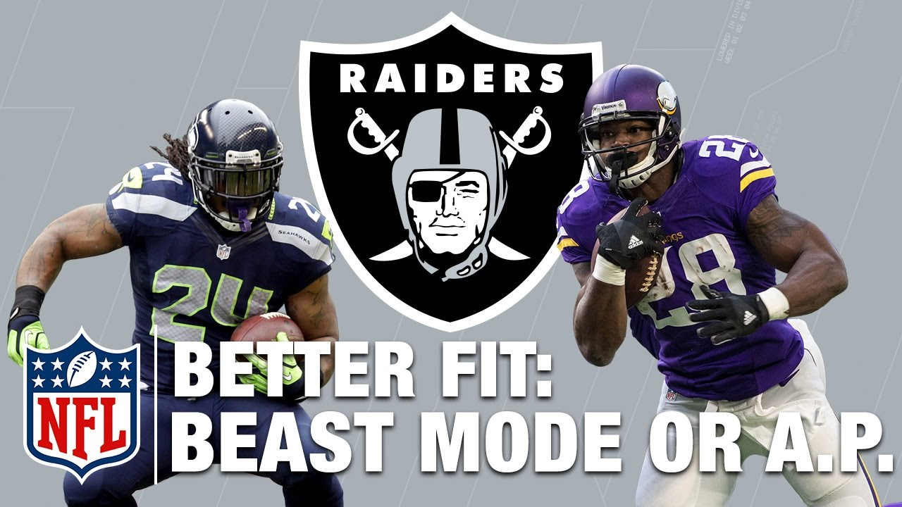 wholesale dealer a3a4b 66702 Better fit for the Raiders: Marshawn Lynch or Adrian Peterson | NFL Network