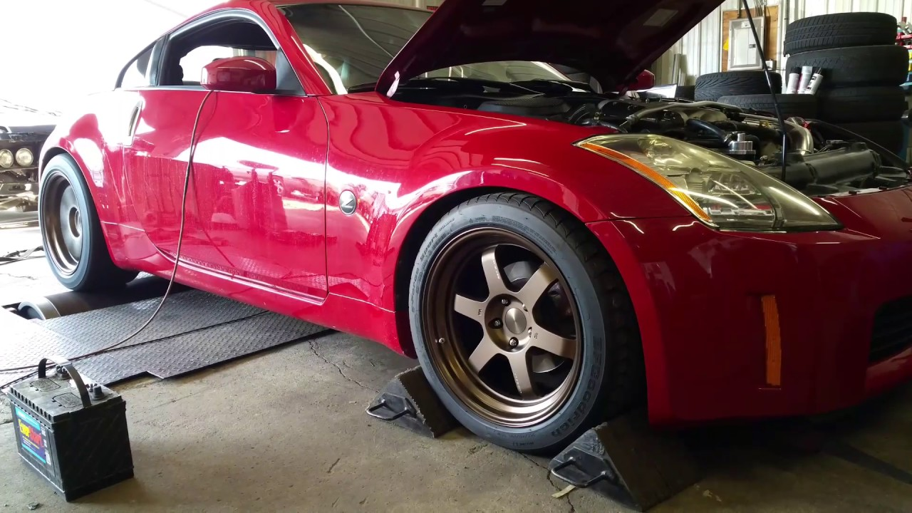 2003 350Z Rev9 turbo kit dyno day