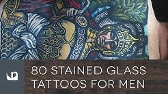 80 Stained Glass Tattoos For Men