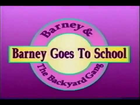 Barney & The Backyard Gang: Barney Goes to School Custom ...