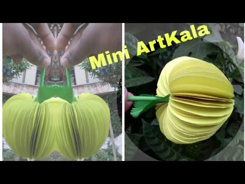 DIY Yellow Apple | How to make a beautiful yellow apple | Paper work Tutorial