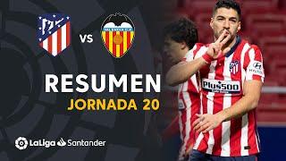 Resumen de Atlético de Madrid vs Valencia CF (3-1)