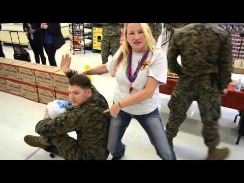 Turkey Bowling With United States Marine Corps and KATS, Rock Chick