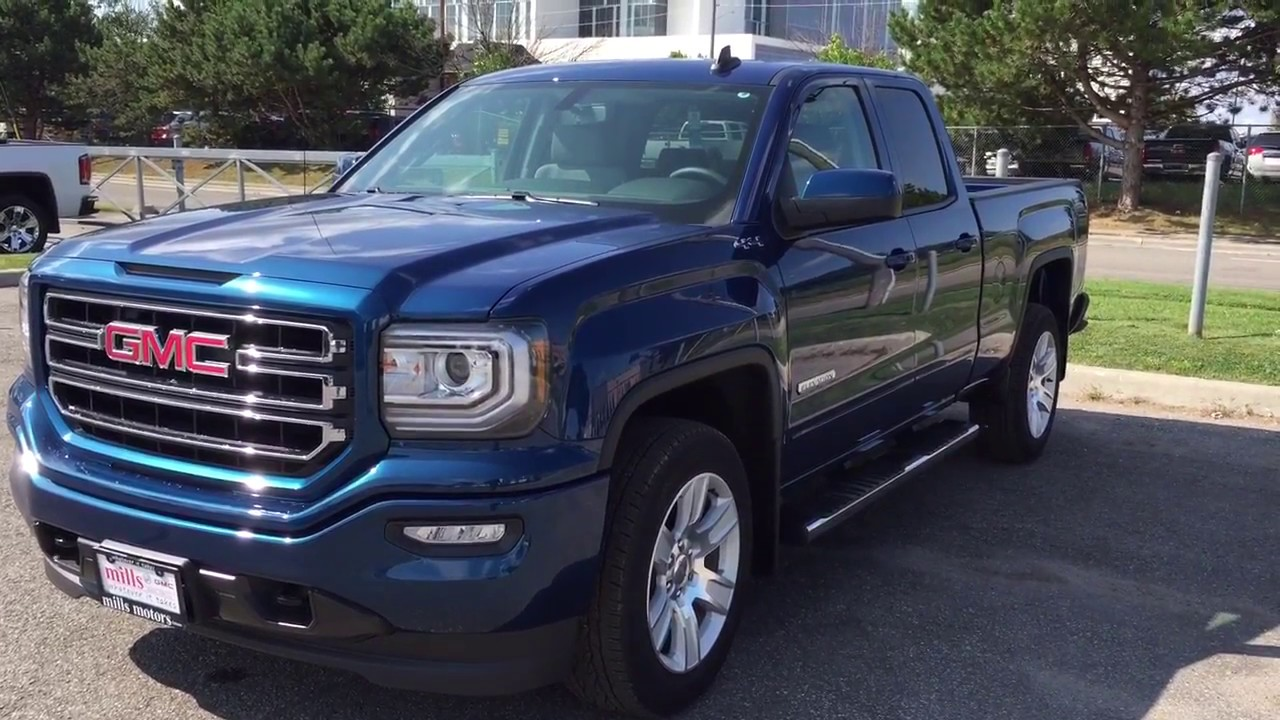 2018 Gmc Sierra 1500 4wd Double Cab Elevation Edition Blue