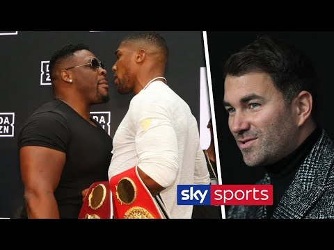 LATEST! Eddie Hearn & Adam Smith react to Anthony Joshua facing Jarrell Miller on June 1 in New York
