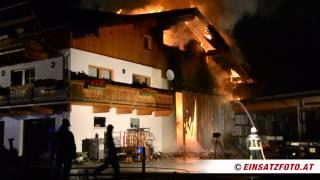 Bauernhausbrand in Wörgl