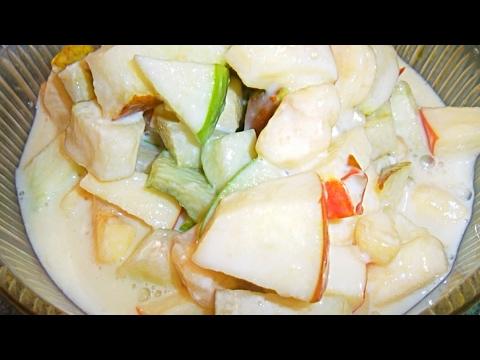 Ensalada de frutas con leches postre receta complaciendo - Postres con frutas faciles ...