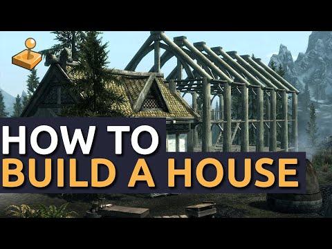 Skyrim Hearthfire DLC - How To Build A House And Find Building Materials
