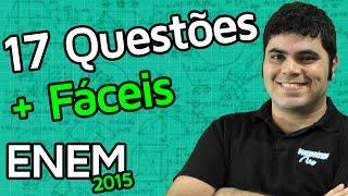 17 Questões de Matemática Mais Fáceis do ENEM 2015