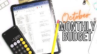 Budget With Me: October 2020 Monthly Budget