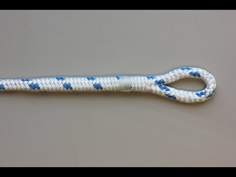 Eye splice in double braid polyester rope