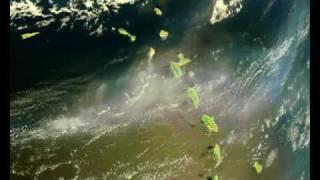 Vue par satellite l'explosion du volcan montserrat guadeloupe