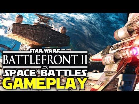 Star Wars: Battlefront 2 - SPACE BATTLES Gameplay + DESTROYABLE Corvettes?!