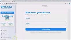 Earn Bitcoin / Take Surveys / BTC Surveys