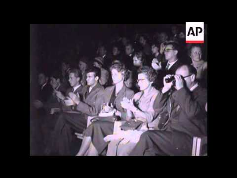 CONFERENCE OF ATOMIC SCIENTISTS AT MASS MEETING - NO SOUND