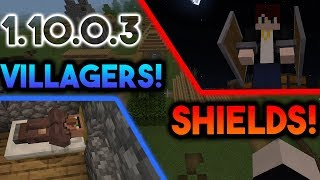 NEW HUGE MCPE UPDATE: 1.10.0.3 REVIEW!! (Shields, New Villagers, New Blocks & MORE!!)