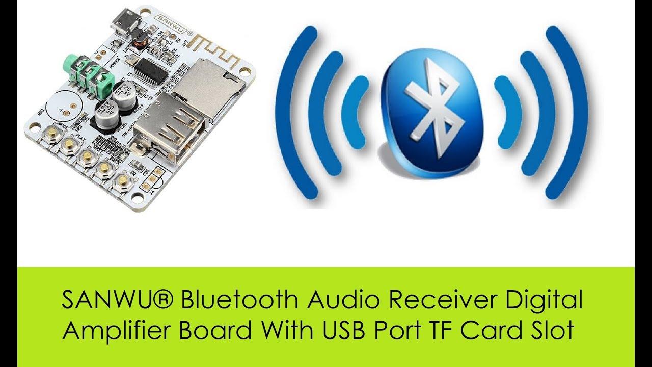 SANWU® Bluetooth Audio Receiver Digital Amplifier Board With USB Port TF  Card Slot from Banggood com