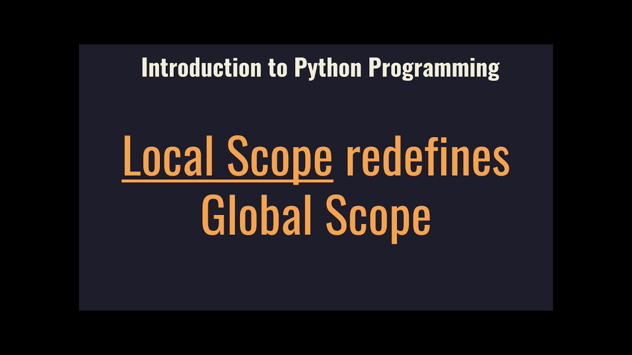 Function Scopes Lesson - Introduction to Programming with Python