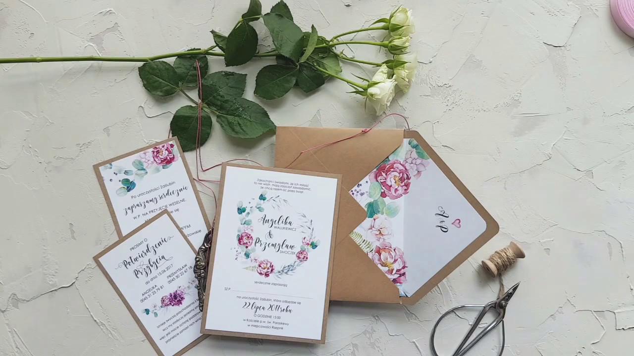 Zaproszenia ślubne Eco Papier Inspiracje Na ślub Youtube