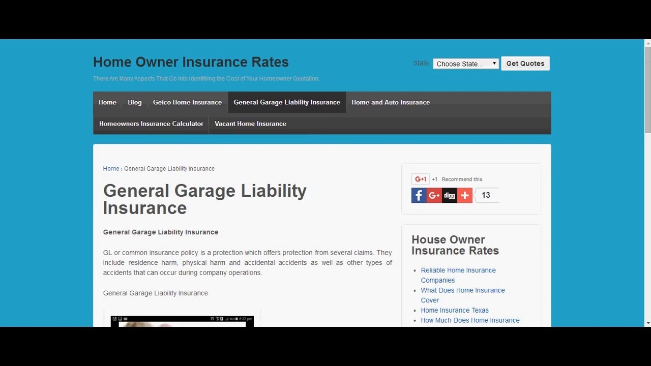 General Garage Liability Insurance   YouTube