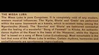 Missa Luba 1965: Lutuku y a Bene Kanyoka, mourning (A2)