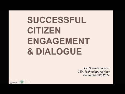 Successful Citizen Engagement