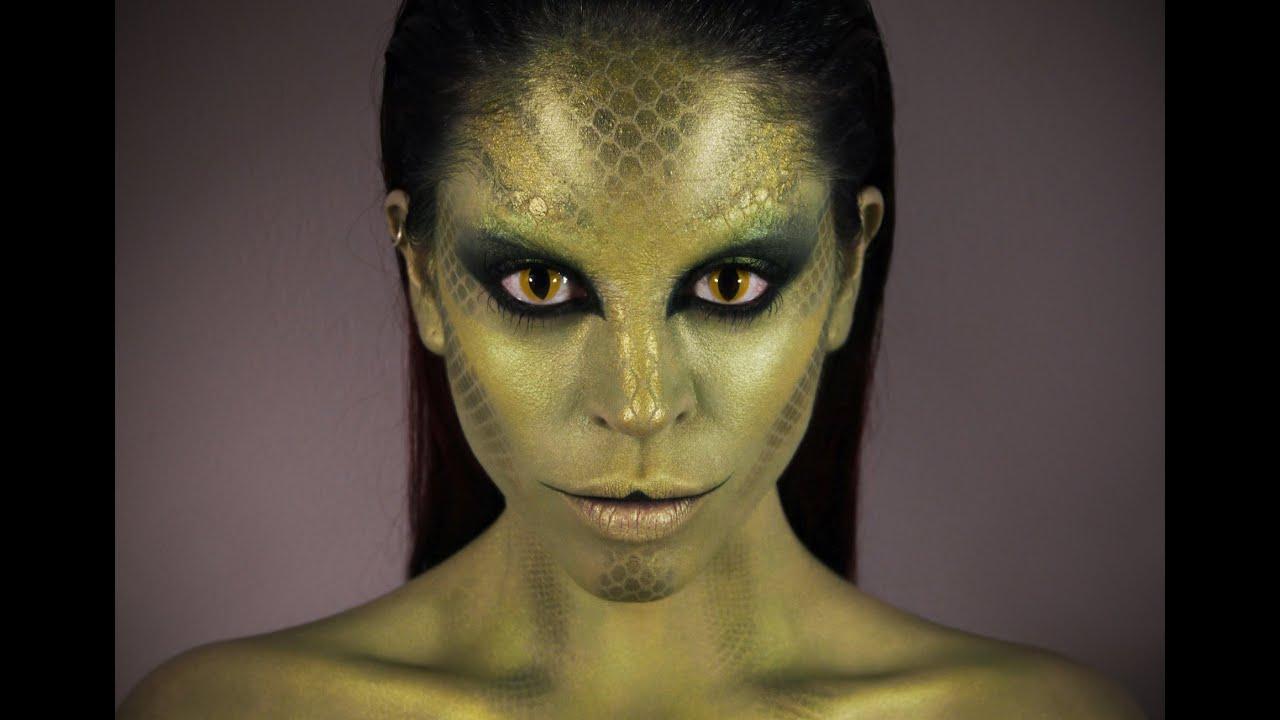 Snake Woman Makeup Tutorial You