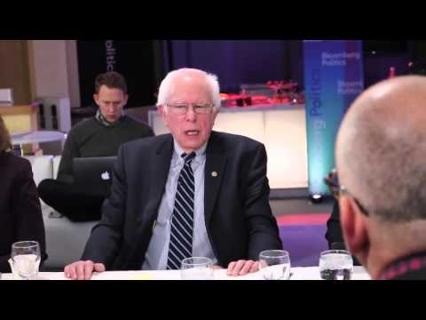 Bernie Sanders' reaction at Bloomberg Politics breakfast by news of Hillary's smear campaign