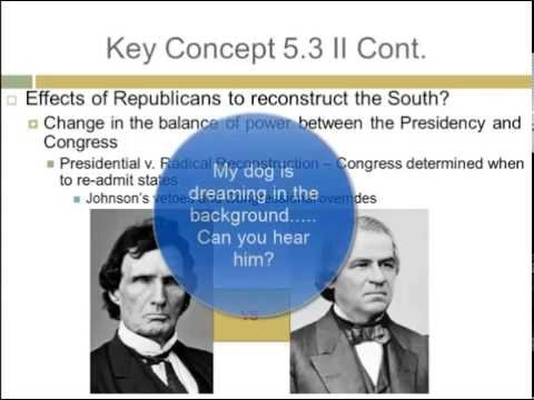APUSH Review: Key Concept 5 3 (Period 5: 1844 - 1877)