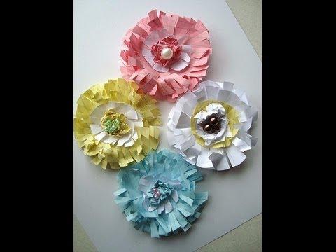 Paper flower scrapbooking paper flowers youtube paper flower scrapbooking paper flowers mightylinksfo
