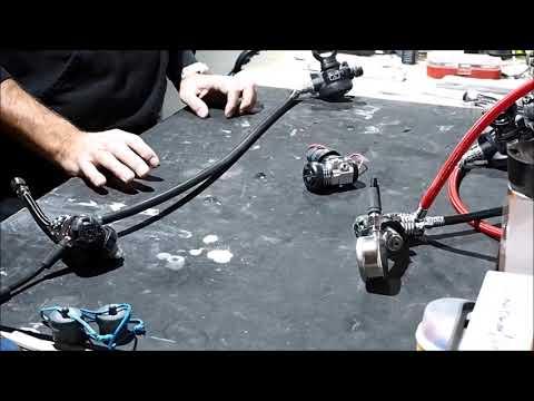 Sidemount Regulator Setup