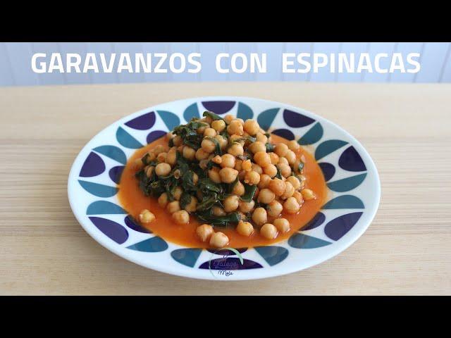🍴Garavanzos con espinacas e tomate 😋