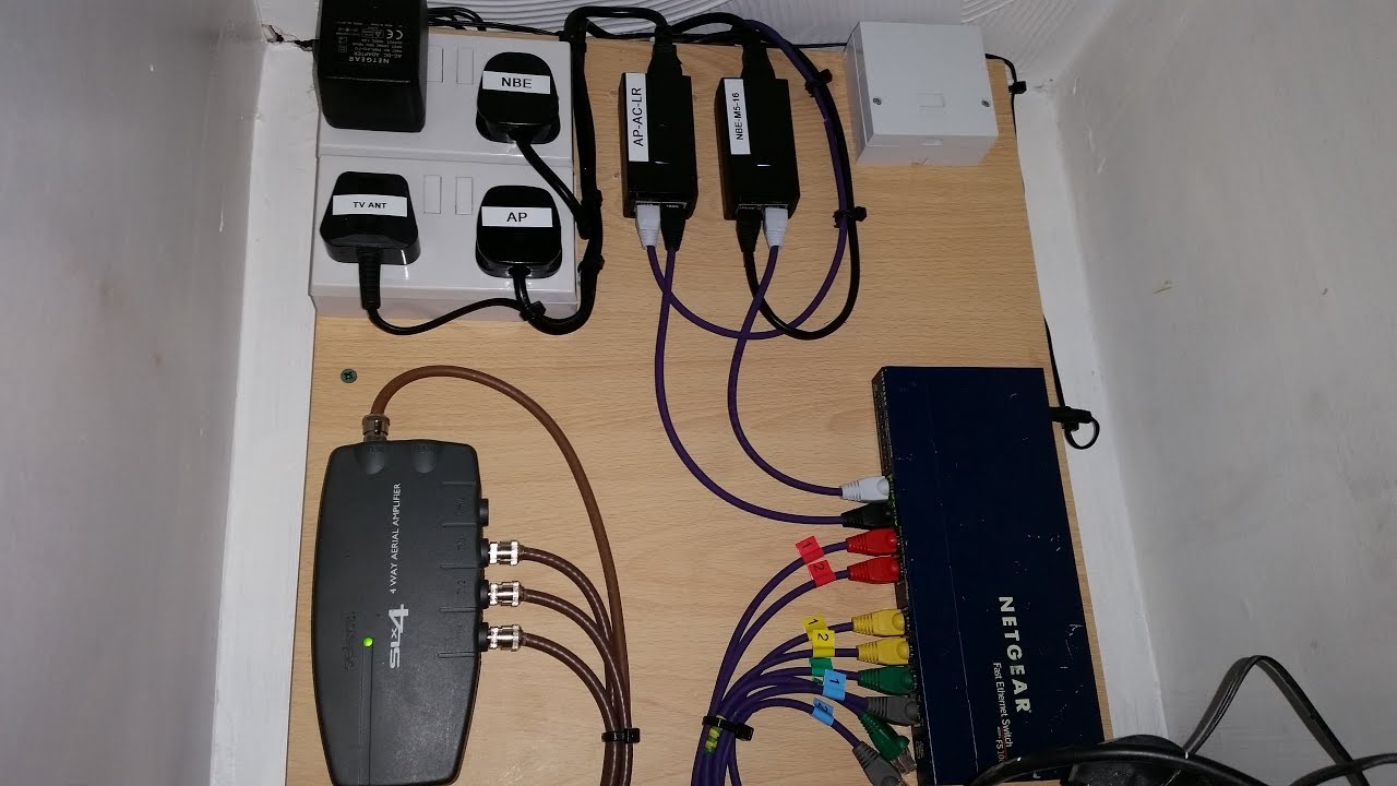 budget home network pt2 cat5e drops wall outlets wall board install tv ethernet telephone  [ 1280 x 720 Pixel ]