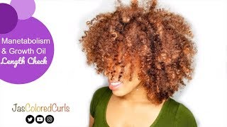 Twice The Hair Growth - Manetabolism Vitamins & Growth Oil Length Check