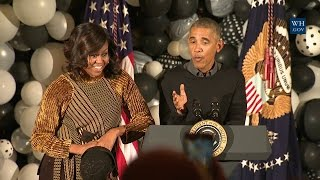 President Obama and the First Lady Welcome Children to Trick or Treat