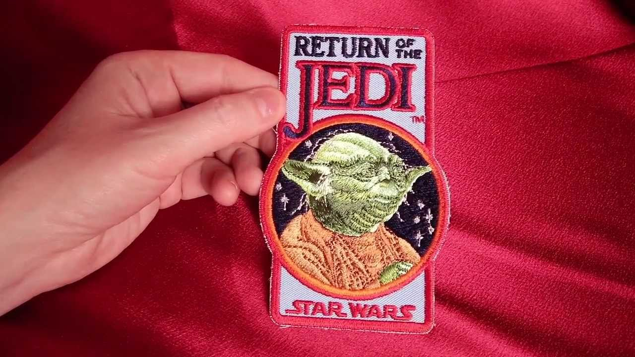 Vintage RETURN OF THE JEDI Yoda Fan Club patch. HD review