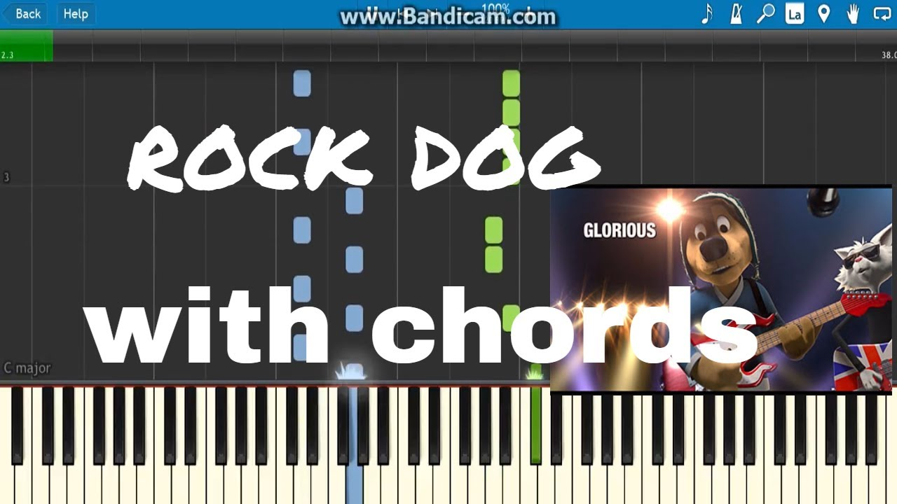 How To Play Gloriousrock Dog With Chords On Piano Youtube